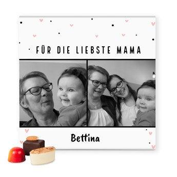 Pralinen mit Foto Muttertag 49 Stück