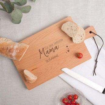Muttertag Holzbrett mit Gravur Buche horizontal