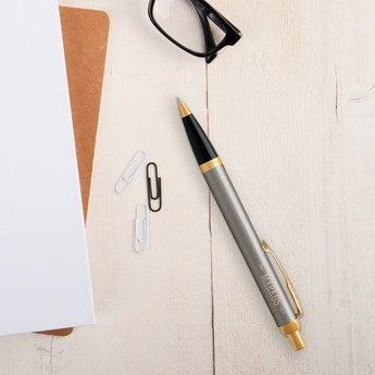 Parker IM Kugelschreiber Rechtshänder (Metall gebürstet)