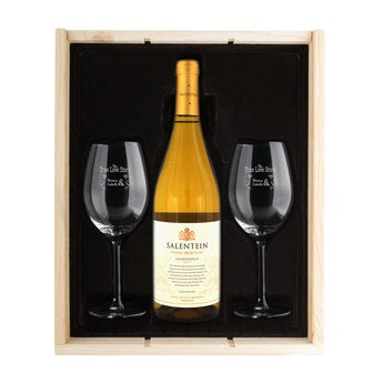 Wine package with glasses - Salentein Chardonnay