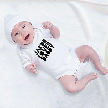 Baby Body 1. Vatertag weiß 50 56