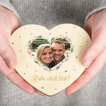 Schokoherz mit Foto Valentinstag Vollmilch