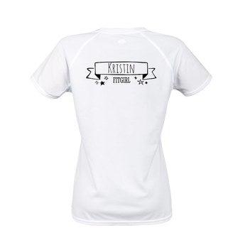 Sportshirt Damen Weiß XXL