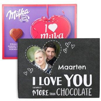 Chocobox - I love Milka! - Liefde - 110 gram