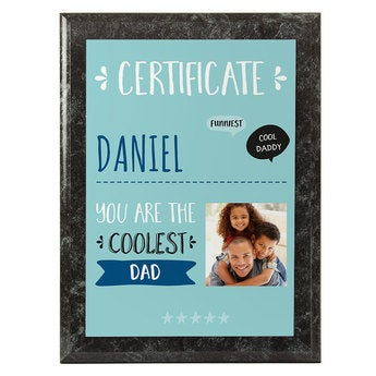 Father's Day certificate - Marble look