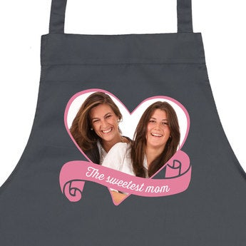 Mother's Day kitchen apron - Grey