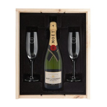 Champagne gift set with glasses - Moët et Chandon