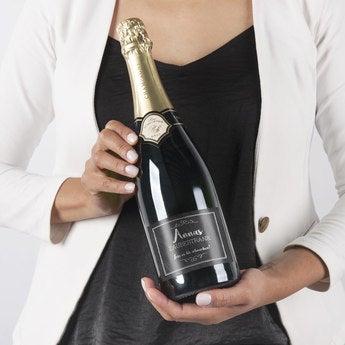 Champagner mit bedrucktem Etikett Rene Schloesser (750ml)