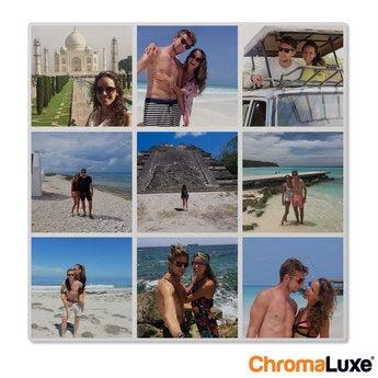 Instagram Collage auf Aluminium Chromaluxe Weiß (40x40)