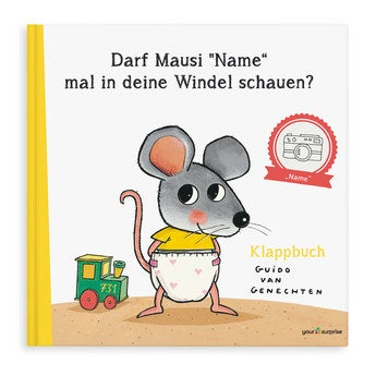 Kinderbuch mit Namen Darf Mausi mal in deine Windel schauen XXL