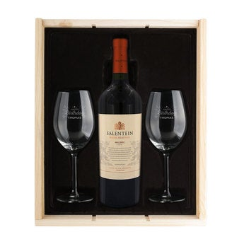 Wine package with glasses - Salentein Malbec