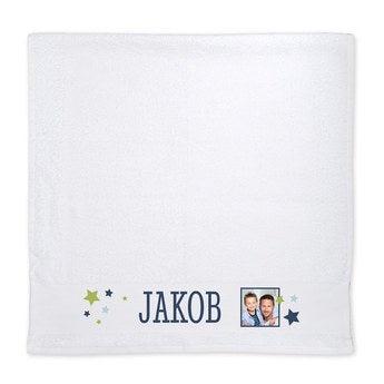 Handtuch mit Foto Weiß