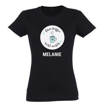 T Shirt Damen Schwarz XXL