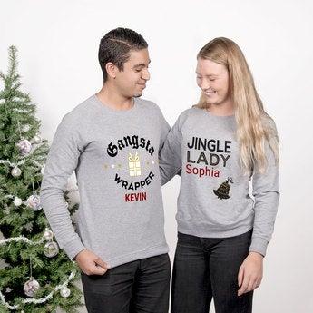 Weihnachtspullover Damen Grau XXL