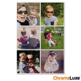 Instagram Collage auf Aluminium Chromaluxe Weiß (40x60)