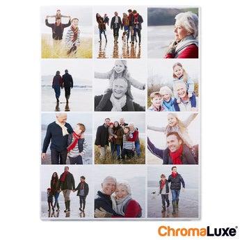 Instagram Collage auf Aluminium Chromaluxe Gebürstet (30x40)