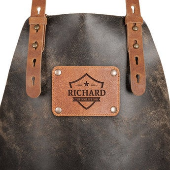 Father's Day leather apron - Black
