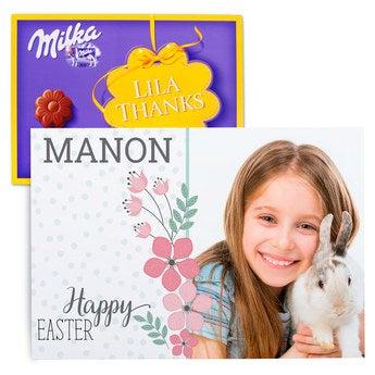 Chocobox - I love Milka! - Easter - Flower 220 gram