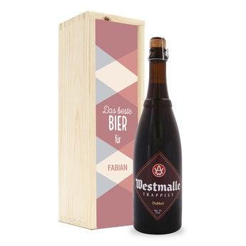 Personalisiertes Bier Westmalle Dubbel