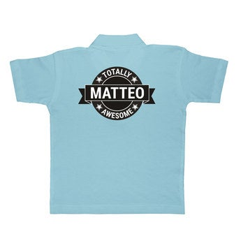 Kinder Poloshirt Blau 4 Jahre