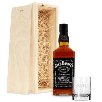 Whisky Set Jack Daniels Glas mit Gravur