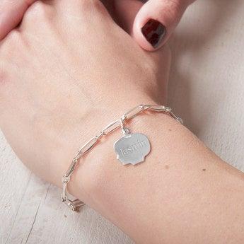 Armband mit Gravur Mädchen Kinderanhänger