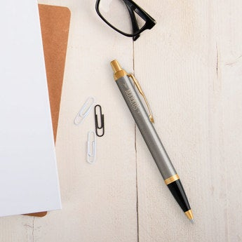 Parker IM Kugelschreiber Linksshänder (Metall gebürstet)