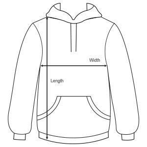 sizes hoodies