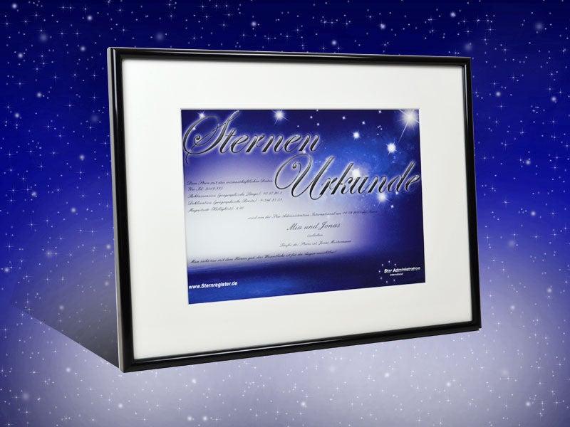 Sterntaufe – Wem möchtest du die Sterne vom Himmel holen?