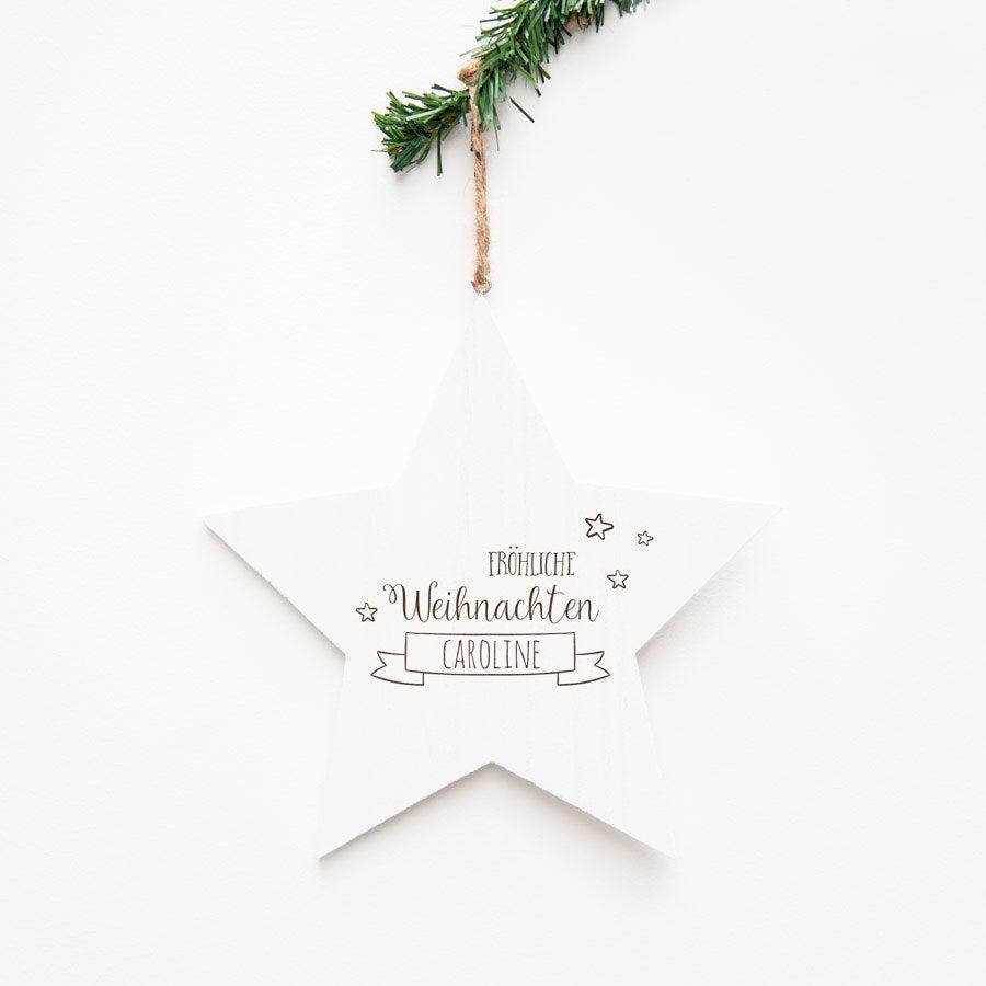 Holzstern Weihnachten